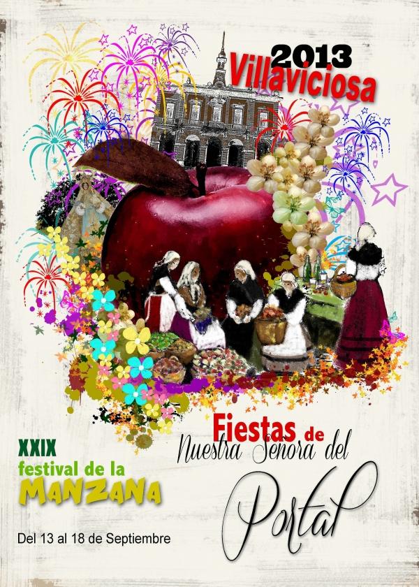 Cartel de las fiestas del Portal 2013
