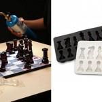 Piezas de ajedrez de hielo