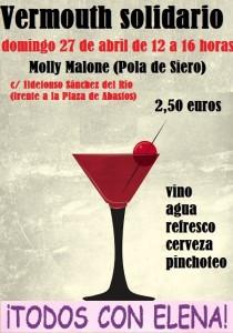 Cartel vermouth solidario Siero