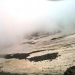 La nieve perenne en la cima del Mont Blanc