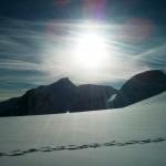 Paisajes espectacular en la subida al Mont Blanc
