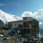 Uno de los refugios del Mont Blanc