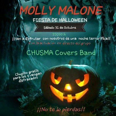 Cartel anunciando la fiesta del Molly Malone