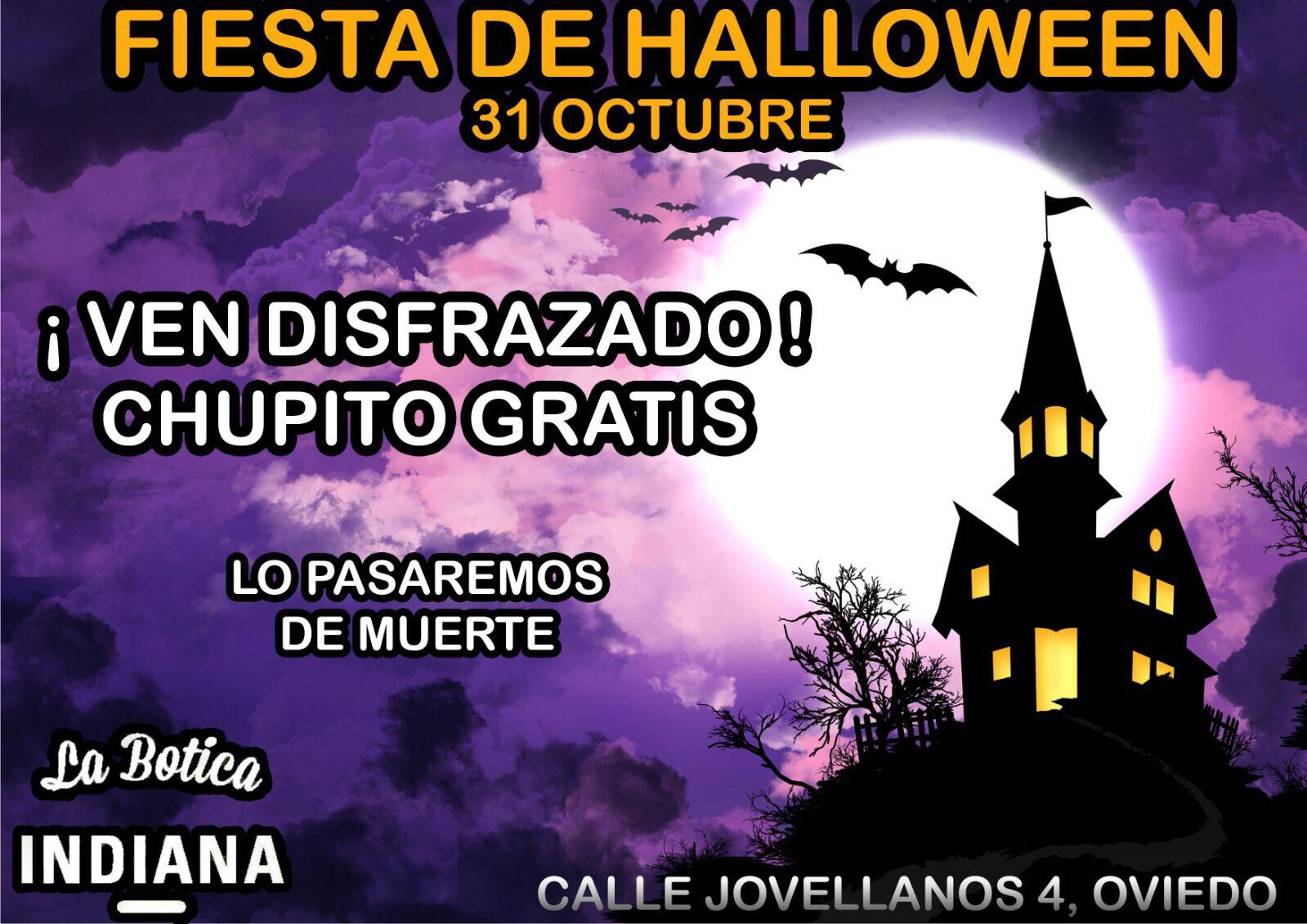 Fiesta de Halloween en La Botica Indiana de la calle Jovellanos de Oviedo