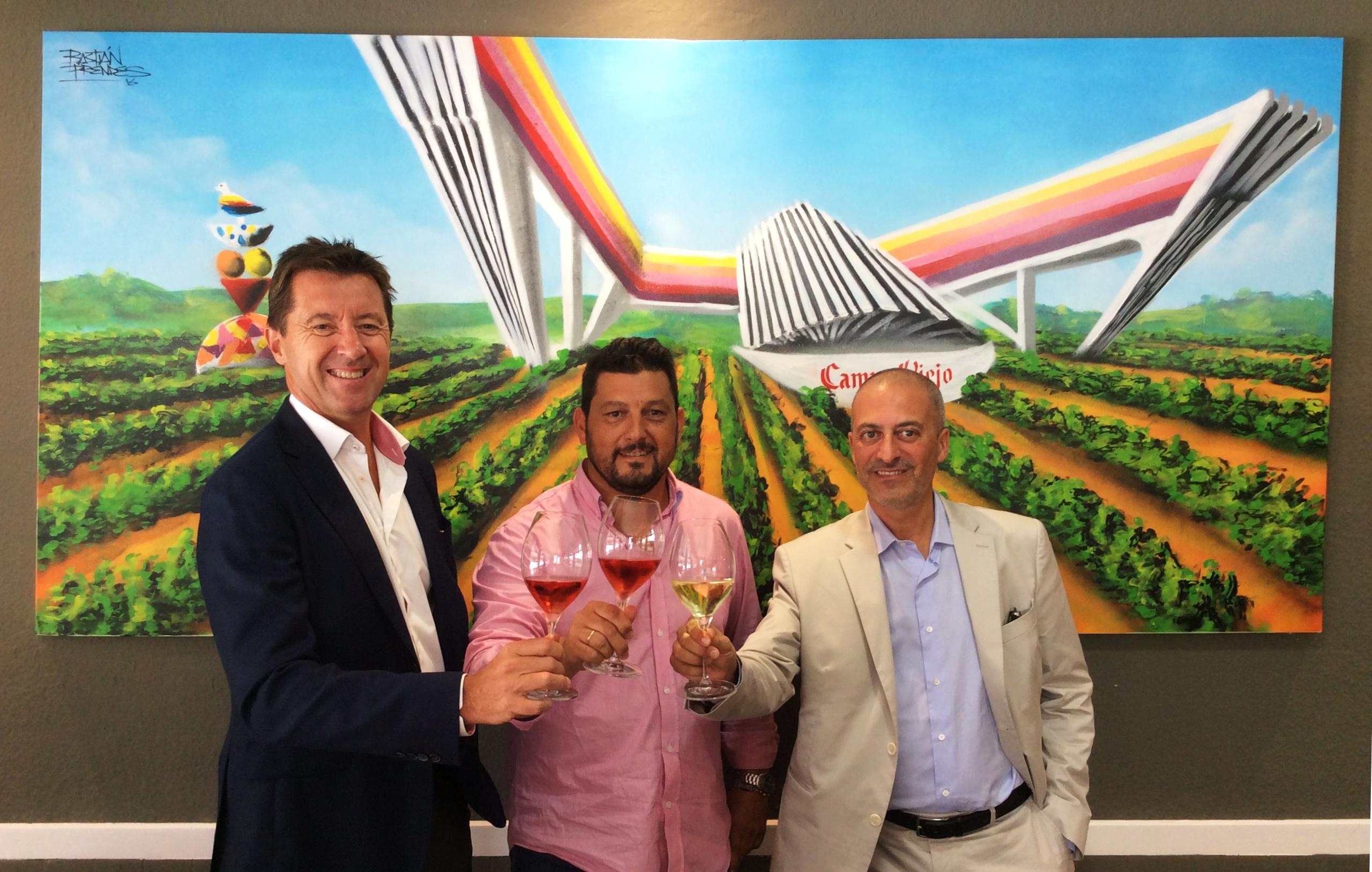 Christian Barré, Iván Beiro y Filippe Ortega en la Consejería