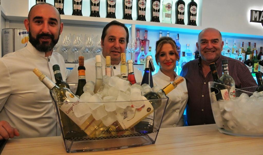 El equipo de Vertini con Ramiro