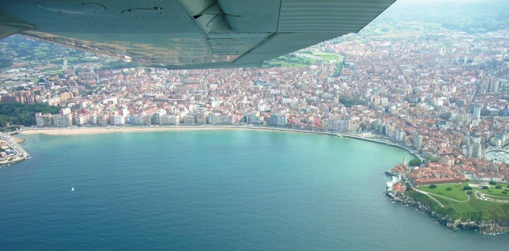 Gijón desde el aire