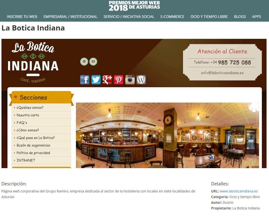 La Botica Indiana candidatura